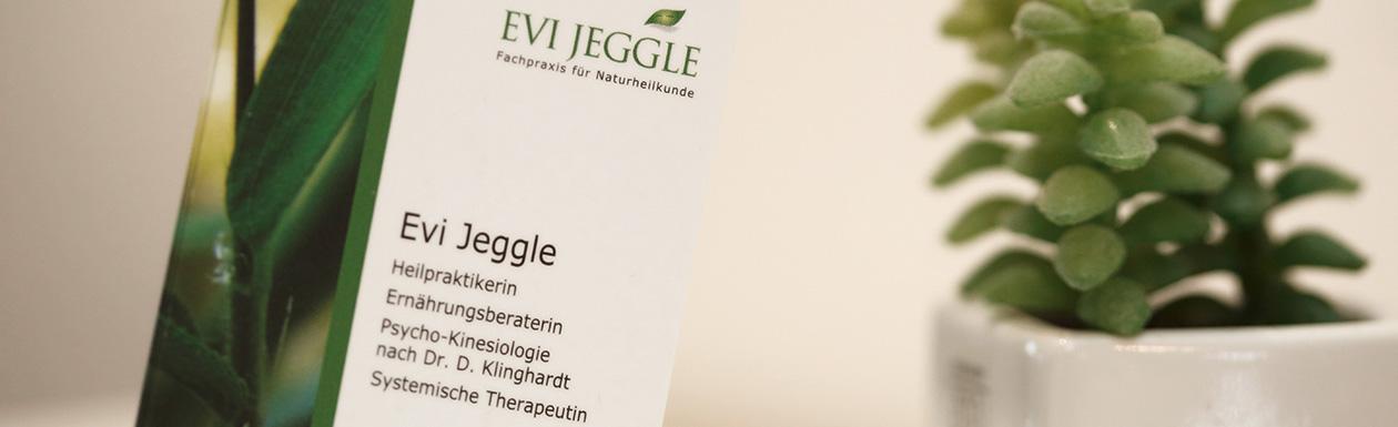 Naturheilpraxis Evi Jeggle Ortenburg - Praxis Visitenkarte